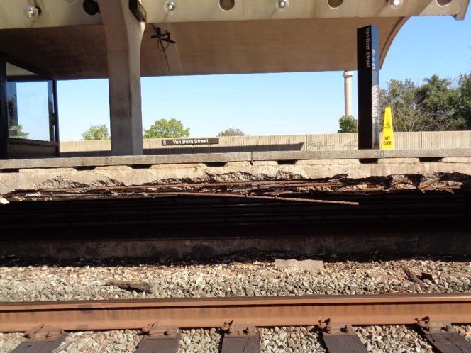 Crumbling Platform Van Dorn St