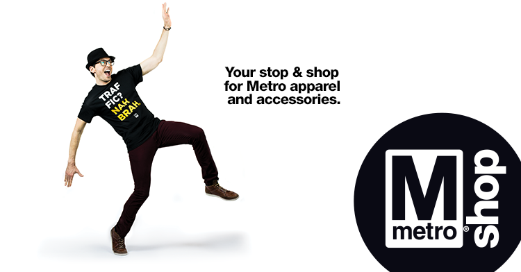 09f7677c3cd0 Ever want a Metro-branded gift, t-shirt or souvenir with the iconic Metro  map? You'll now be able to take home the iconic Metro brand at M Shop, ...