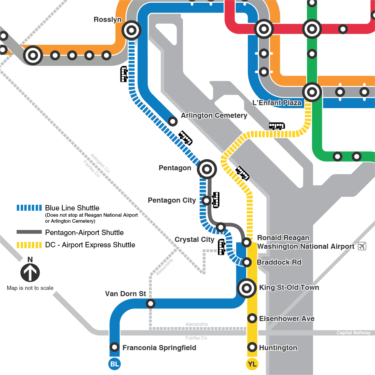 Metro Map Arlington Va.Lighting Improvements At Three Metro Stations To Impact Yellow And