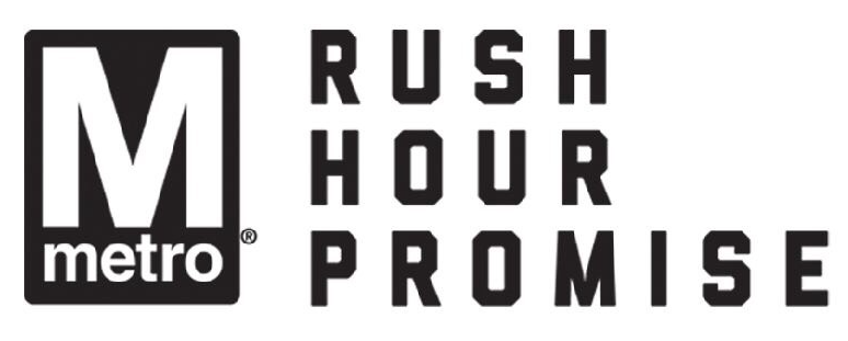 rush hour promise logo white
