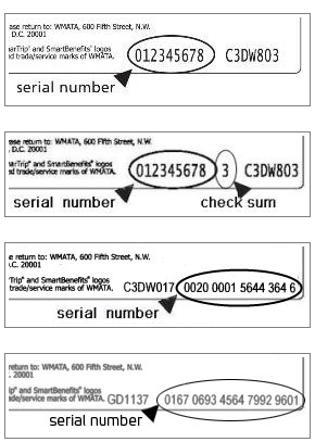 Serial number examples