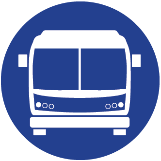 Blue bus icon