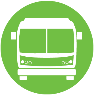 Green bus icon