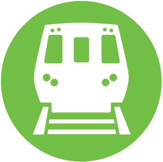 Green train icon