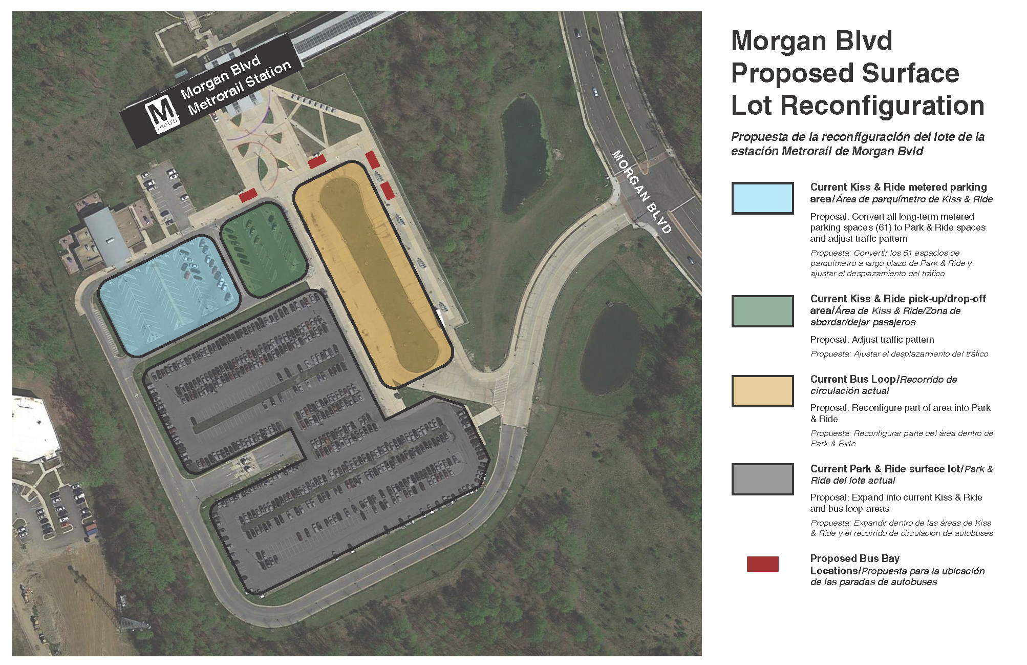 Morgan Blvd reconfiguration plan