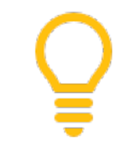 light bulb icon bullet