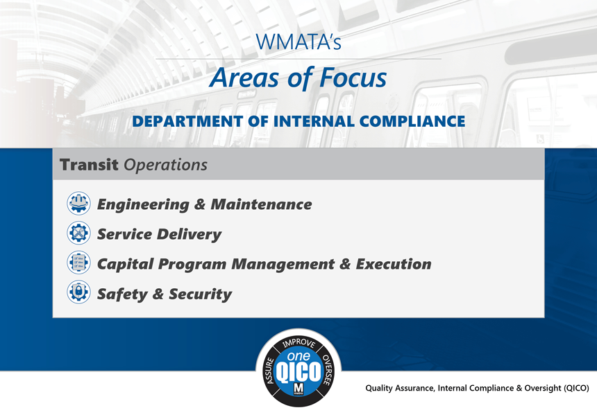 WMATA's Areas of Focus - Department of Internal Compliance