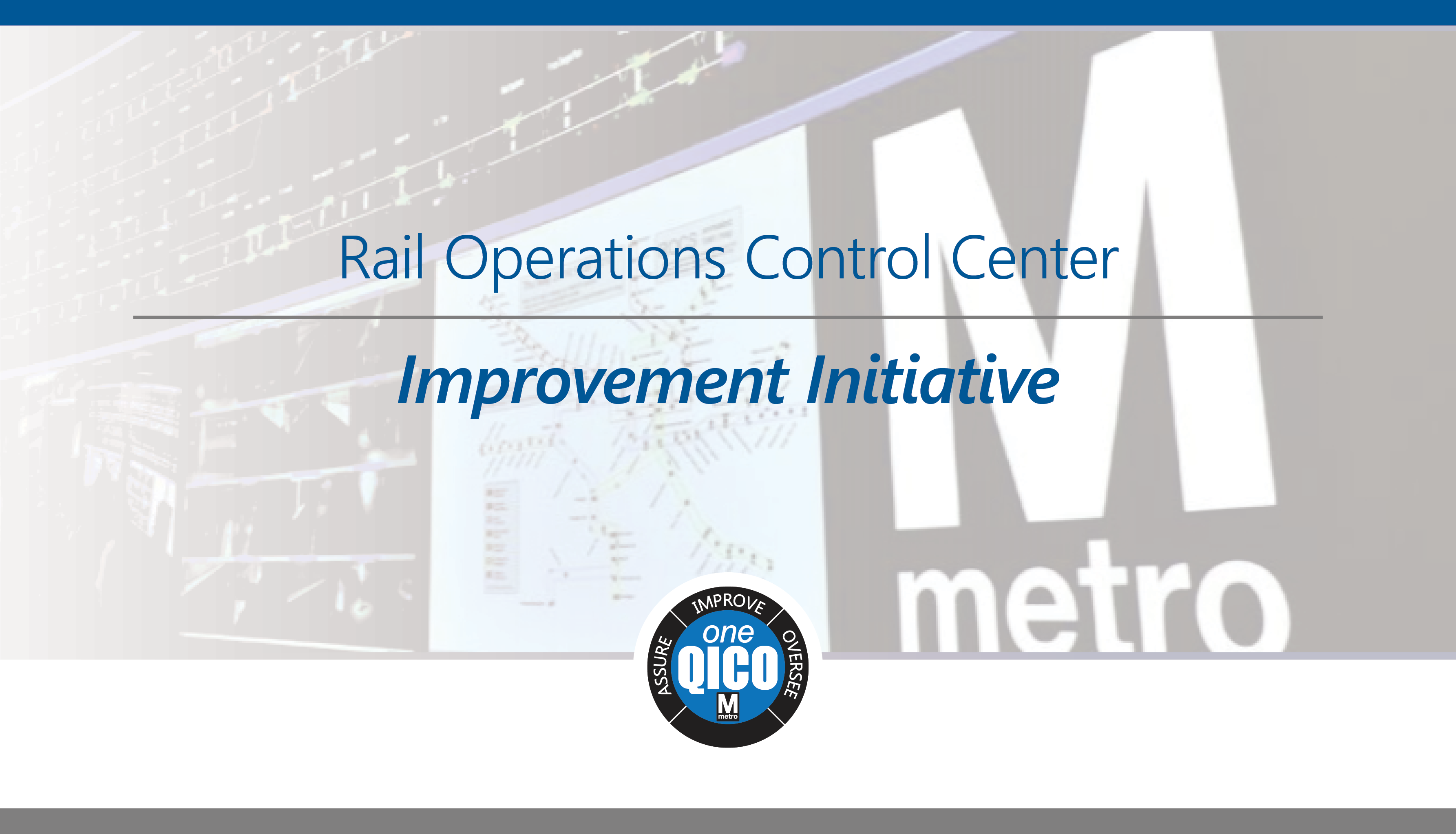 Rail Operations Control Center Improvement Initiative