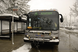 Metro Bus in Snow