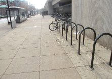 U-rack bicycle rack