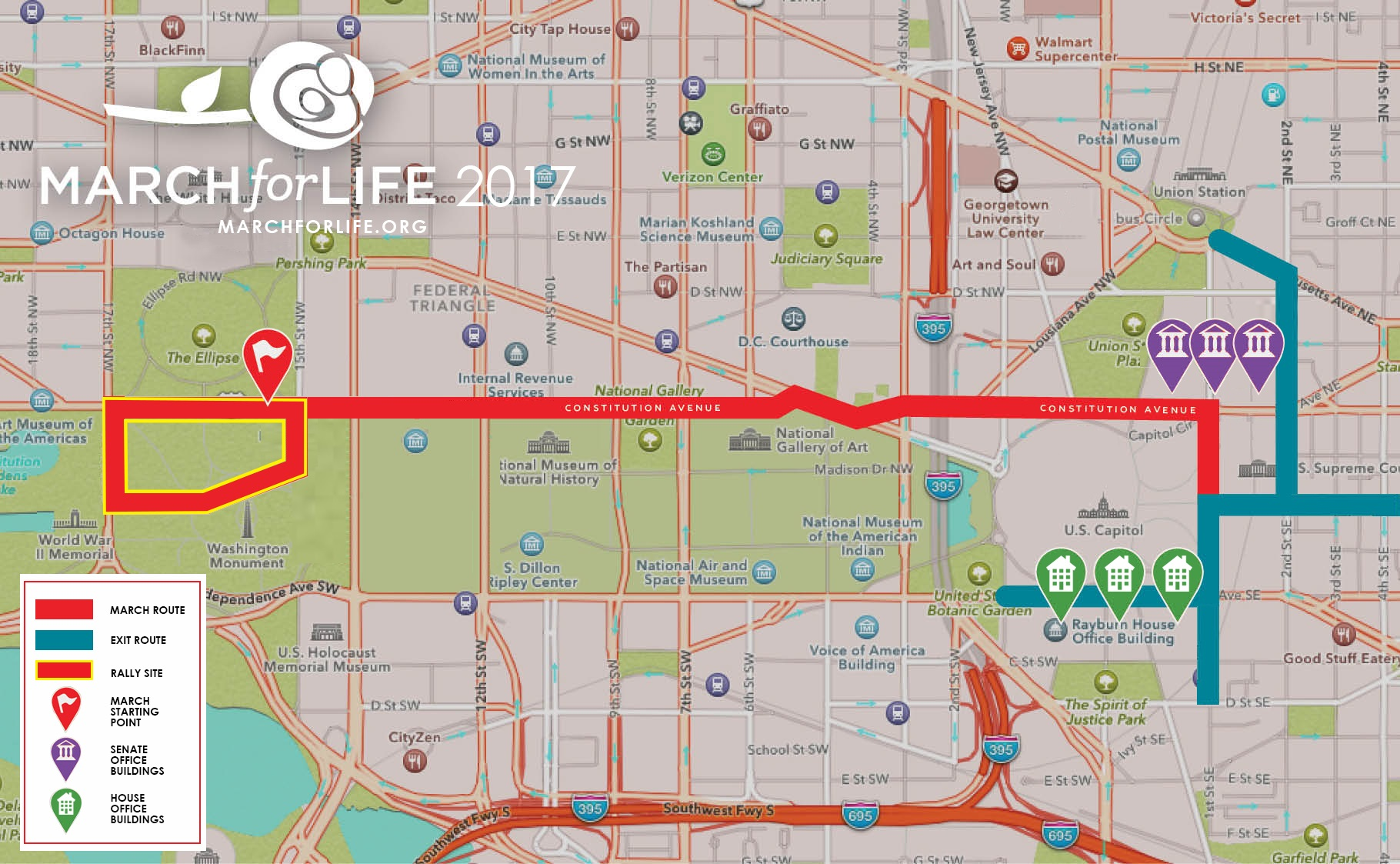 March for Life Map 2017