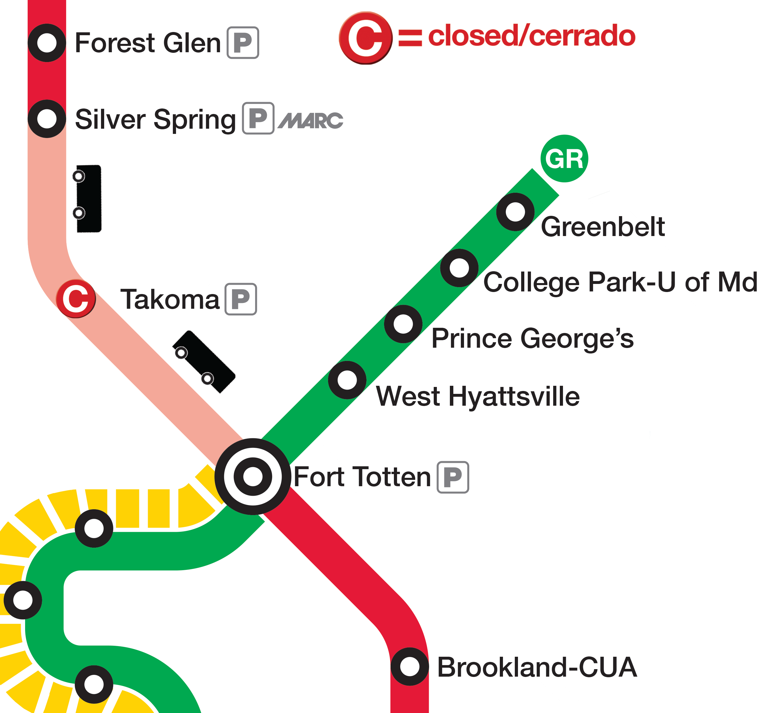 Red Line No Trains Between Silver Spring Fort Totten Takoma