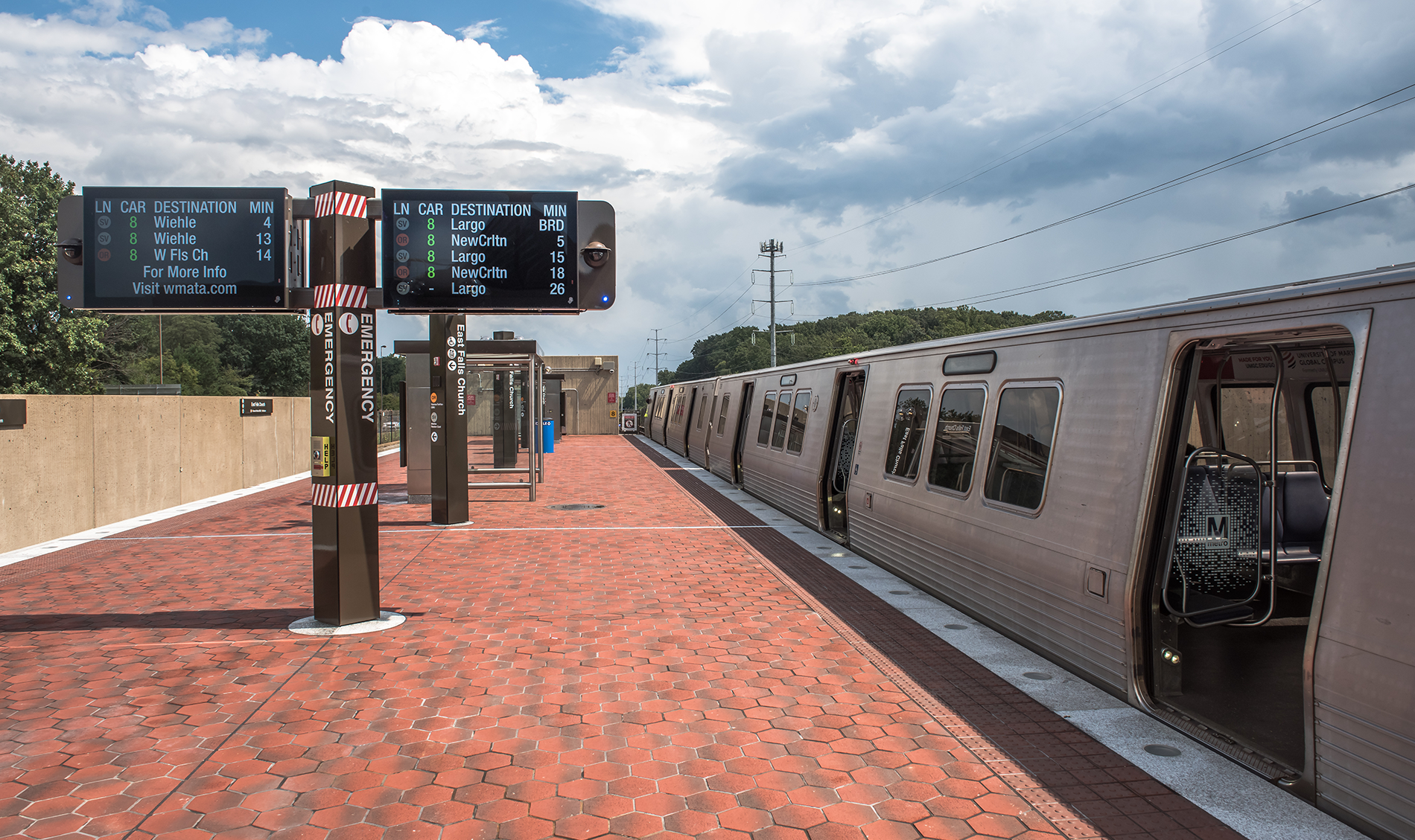 Platform Improvement Station Reconstruction at East Falls Church