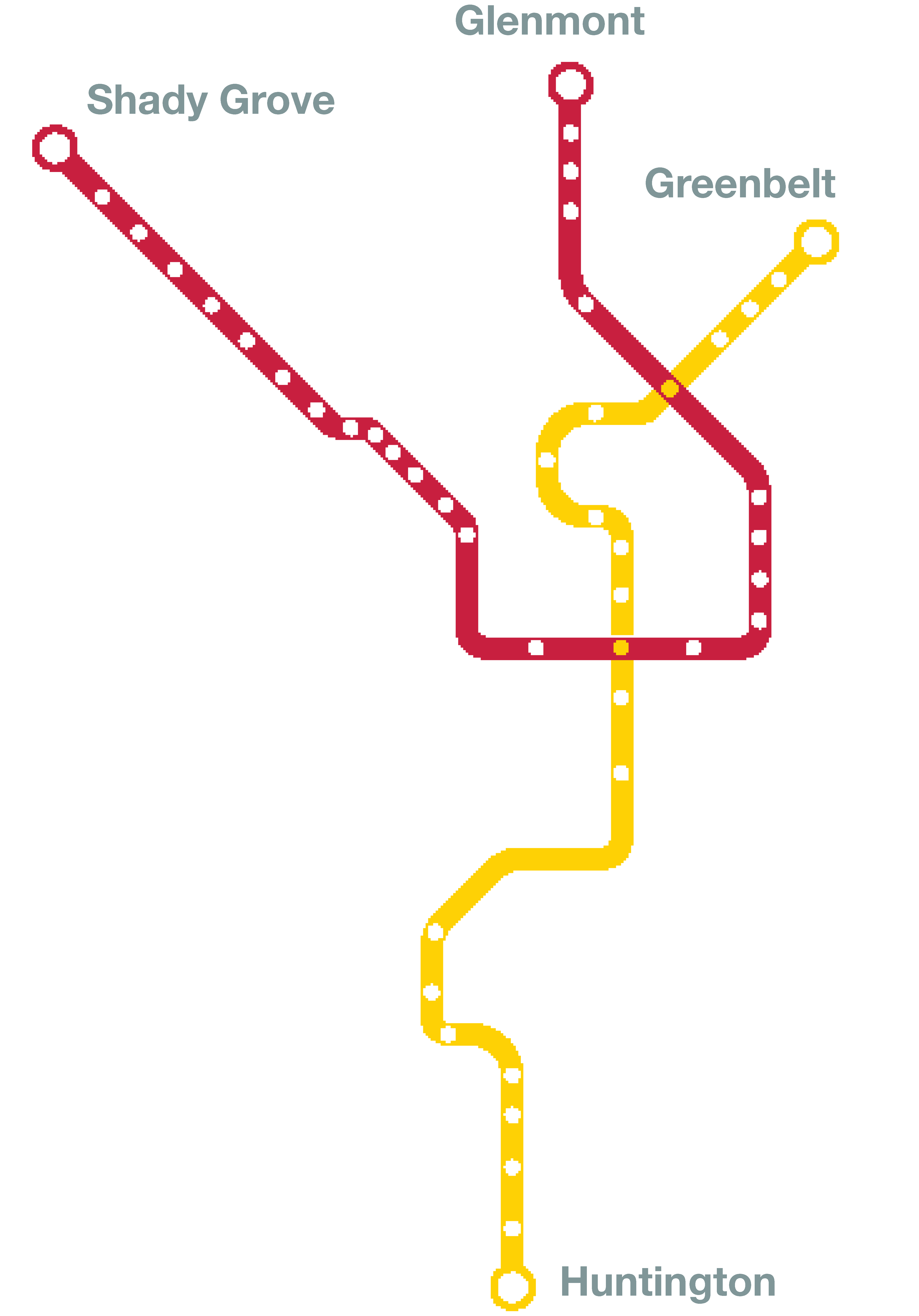 Red Yellow map line