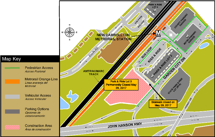 New Carrollton Lot 3 closure map