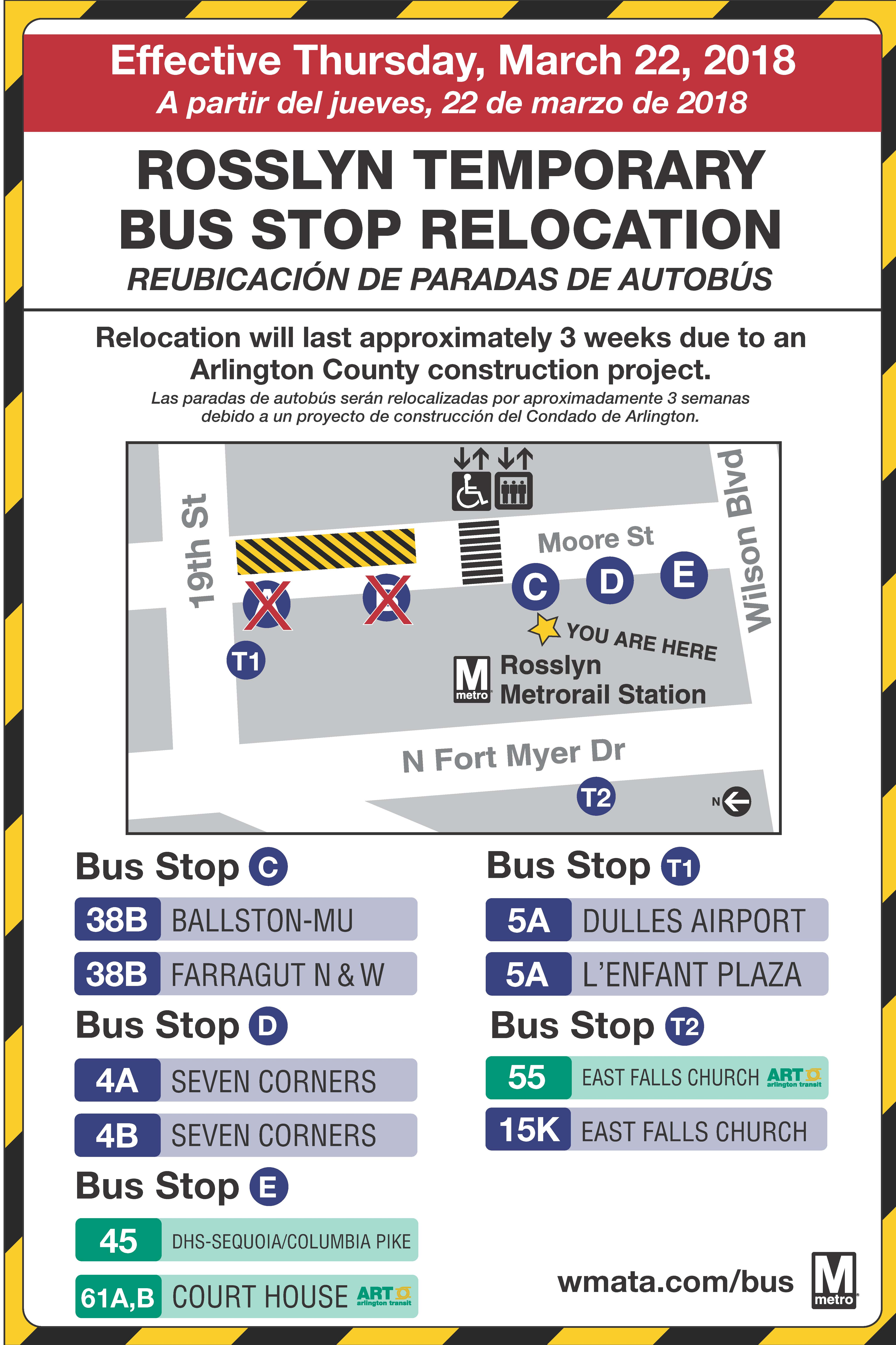 Rosslyn Bus Bay Relocation March 2018 Phase 2