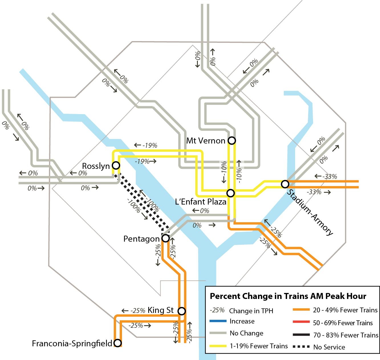 Dc Metro Map Yellow Line.Metro Safetrack Surge 12 Blue Line Rosslyn To Pentagon Begins