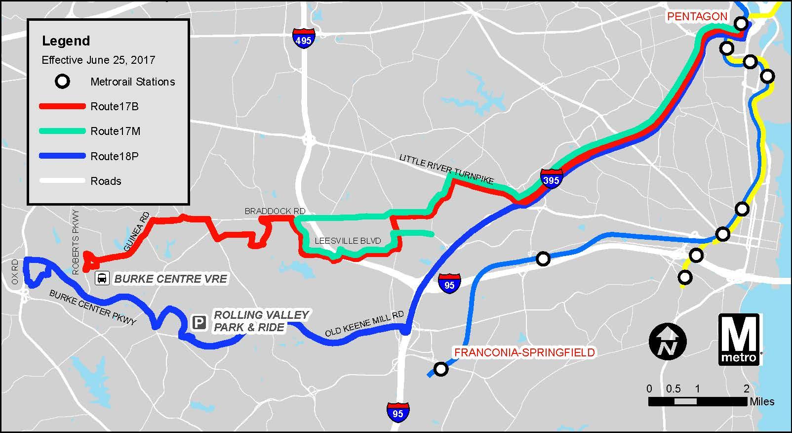 Metrobus Service Changes, June 25 | WMATA