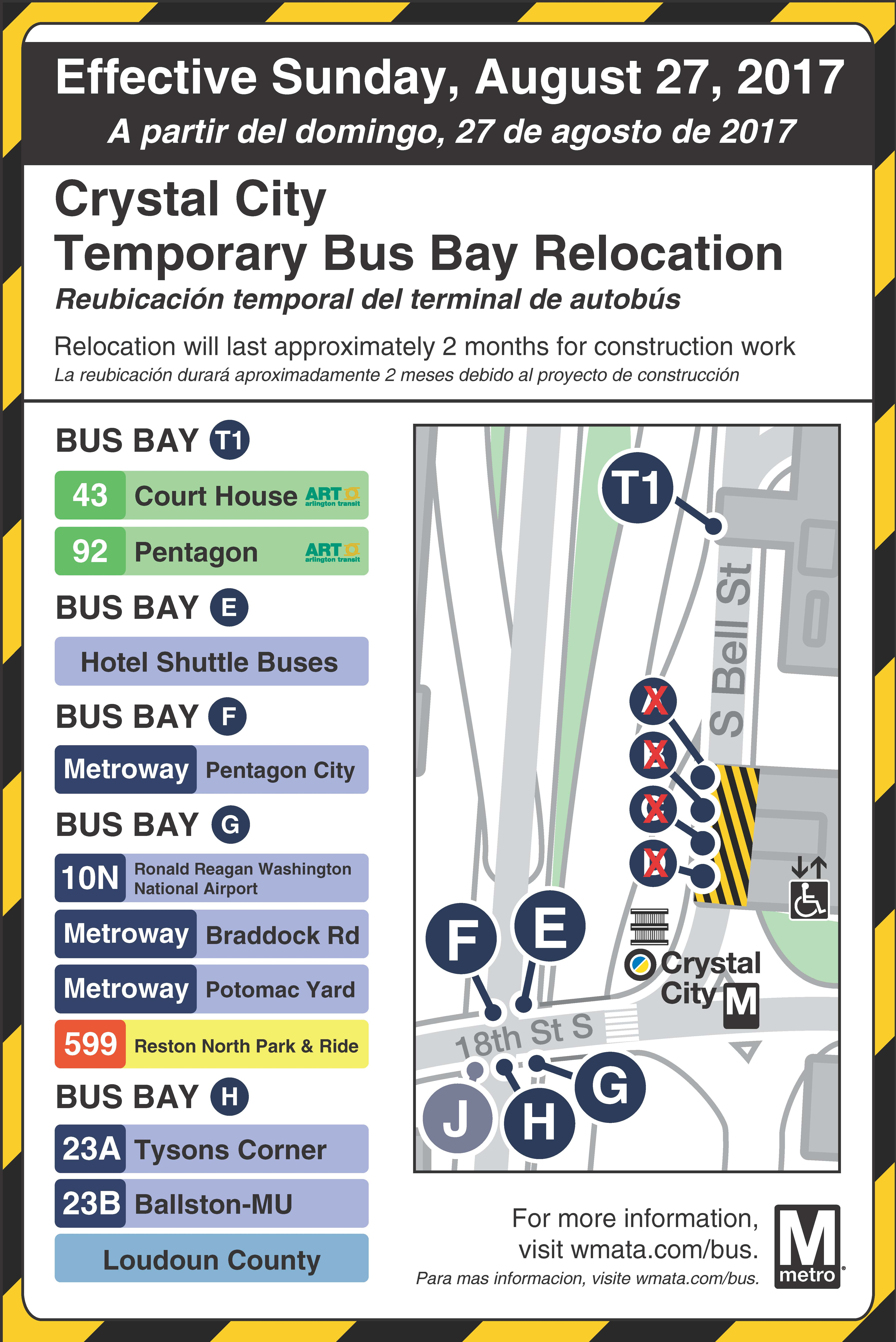 Crystal City Bus Bay Relocation
